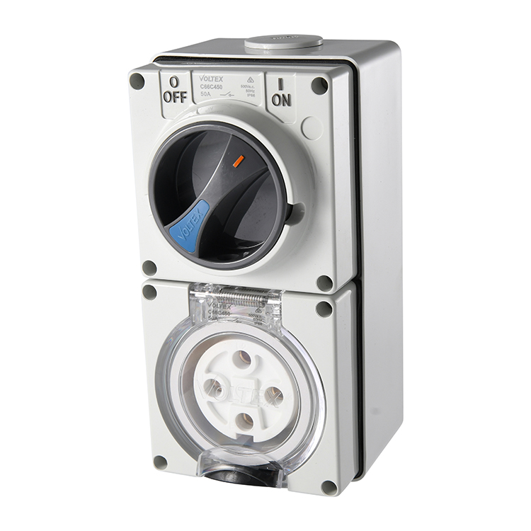 Voltex Switched Socket Outlets - IP56 500V 50A - 4 Round pins