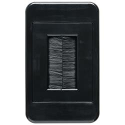 Classic Audio Visual Brush Plate- Black