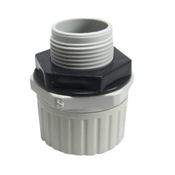Corrugated Conduit Gland (Grey) 25mm 50Pk