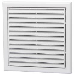 Fixed White Louvre Grill 125mm