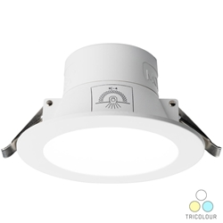 Voltex Monaco 9.5W IP44 Integrated Driver LED Down Light - CCT Tricolour - Changeable - 90mm
