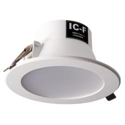 Monaco 9.5W IP44 LED Integrated Driver Fixed Downlight - 85-95mm Cutout - Warm White 3000K - Dimmable