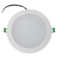Kempton 18 Watt LED Down Light - Warm White - 3000K - White Frame - 160mm cut-out - Dimmable