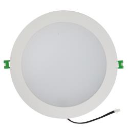 Bridport 23 Watt LED Down Light - Warm White - 3000K - White Frame - 200mm cut-out - Dimmable
