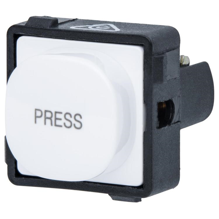 Momentary Push Button Mechanism 2 Amp 240 Volt - marked 'PRESS'