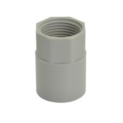 Screwed Coupling Grey 20mm - 50 Pack